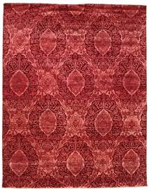 Damask Rug 235X297 Authentic  Modern Handknotted Dark Red/Dark Beige ( India)