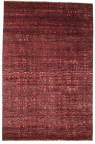 Damask Rug 200X306 Authentic  Modern Handknotted Dark Red/Brown ( India)