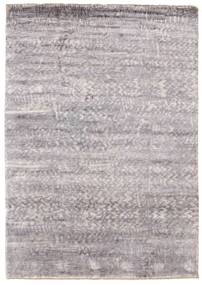 Damask Rug 172X245 Authentic  Modern Handknotted Light Grey ( India)