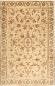 Yazd Rug 193X297 Authentic  Oriental Handknotted Light Brown/Dark Beige (Wool, Persia/Iran)