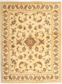 Yazd Matto 191X256 Itämainen Käsinsolmittu Vaaleanruskea/Tummanbeige (Villa, Persia/Iran)