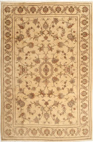 Yazd Rug 194X297 Authentic  Oriental Handknotted Light Brown/Dark Beige (Wool, Persia/Iran)