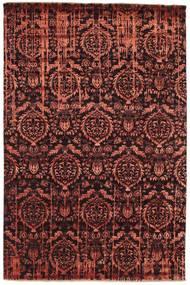 Damask Matto 198X300 Moderni Käsinsolmittu Tummanruskea/Tummanpunainen/Ruskea ( Intia)