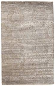 Damask Rug 195X305 Authentic  Modern Handknotted Light Grey/Light Brown ( India)