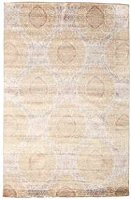 Damask Rug 195X300 Authentic  Modern Handknotted Beige/Light Brown ( India)