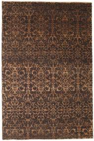 Damask Rug 193X293 Authentic  Modern Handknotted Dark Brown/Brown ( India)