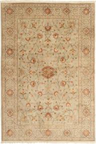 Jazd Dywan 167X245 Orientalny Tkany Ręcznie Jasnobrązowy/Ciemnobeżowy (Wełna, Persja/Iran)