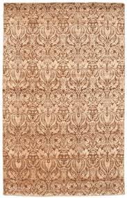 Damask Tapis 191X302 Moderne Fait Main Rose Clair/Marron/Marron Clair ( Inde)