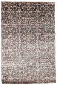 Damask Rug 176X257 Authentic  Modern Handknotted Light Grey/Light Brown ( India)