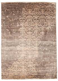 Damask Szőnyeg 174X240 Modern Csomózású Világosbarna/Világos Rózsaszín ( India)