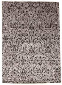 Damask Tapis 175X245 Moderne Fait Main Gris Clair/Marron Foncé ( Inde)