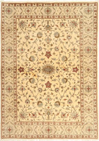 Yazd Rug 169X241 Authentic  Oriental Handknotted Light Brown/Dark Beige/Light Pink (Wool, Persia/Iran)