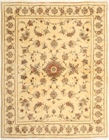 Yazd Rug 200X250 Authentic  Oriental Handknotted Light Brown/Light Pink (Wool, Persia/Iran)