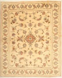ヤズド 絨毯 197X249 オリエンタル 手織り 暗めのベージュ色の/薄茶色 (ウール, ペルシャ/イラン)