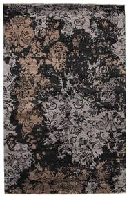 Damask Rug 193X300 Authentic  Modern Handknotted Black/Light Brown ( India)