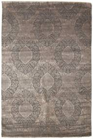 Damask Rug 199X301 Authentic  Modern Handknotted Light Grey/Dark Grey ( India)