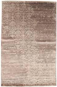 Damask Szőnyeg 198X306 Modern Csomózású Világosszürke/Barna ( India)