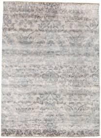 Damask Koberec 176X242 Moderní Ručně Tkaný Světle Šedá/Bílý/Krém ( Indie)