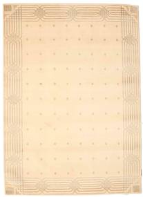Himalaya Rug 142X199 Authentic  Modern Handknotted Dark Beige/Light Pink ( India)