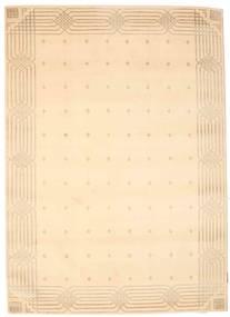 Himalaya Matto 142X199 Moderni Käsinsolmittu Tummanbeige/Vaaleanpunainen ( Intia)