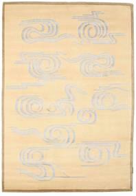 Himalaya Matta 139X200 Äkta Modern Handknuten Beige/Gul ( Indien)