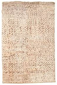 Damask Rug 123X185 Authentic  Modern Handknotted Light Pink/Light Brown/Beige ( India)