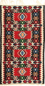 Kilim Fars Rug 102X185 Authentic Oriental Handwoven Dark Grey/Dark Red (Wool, Persia/Iran)