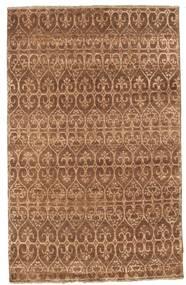 Damask Dywan 114X181 Nowoczesny Tkany Ręcznie Brązowy/Jasnobrązowy ( Indie)
