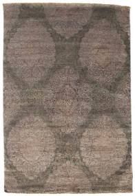 Damask Rug 160X237 Authentic  Modern Handknotted Light Brown/Brown/Dark Brown ( India)