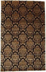 Damask Rug 196X306 Authentic  Modern Handknotted Dark Brown/Light Brown ( India)