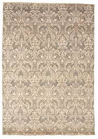 Damask Rug 169X241 Authentic  Modern Handknotted Light Brown/Beige ( India)