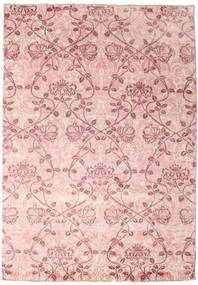 Damask Rug 171X245 Authentic  Modern Handknotted Light Pink/Purple ( India)