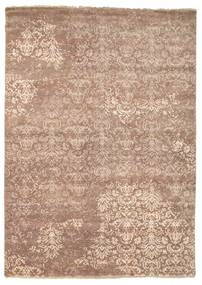 Damask Rug 175X245 Authentic  Modern Handknotted Light Brown/Light Pink ( India)