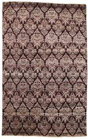 Damask Rug 191X298 Authentic  Modern Handknotted Dark Brown/Light Brown ( India)