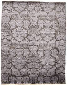 Damask Rug 241X308 Authentic  Modern Handknotted Dark Grey/Light Grey ( India)