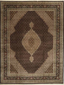 Tabriz Royal Mahi Rug 307X399 Authentic  Oriental Handknotted Dark Brown/Light Brown/Brown Large ( India)