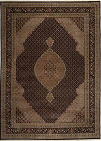 Tabriz Royal Mahi Rug 304X408 Authentic  Oriental Handknotted Dark Brown/Brown Large ( India)