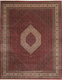 Bidjar Indo Rug 303X392 Authentic  Oriental Handknotted Dark Red/Brown Large (Wool, India)