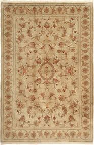 Yazd Rug 195X301 Authentic  Oriental Handknotted Light Brown/Brown (Wool, Persia/Iran)