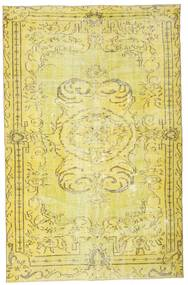 Colored Vintage Rug 156X248 Authentic  Modern Handknotted Yellow/Olive Green (Wool, Turkey)