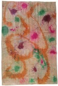 Colored Vintage Tappeto 195X252 Moderno Fatto A Mano Marrone Chiaro/Rosso Scuro (Lana, Turchia)