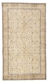 Colored Vintage Rug 144X257 Authentic  Modern Handknotted Light Brown/Beige (Wool, Turkey)