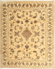 Yazd Rug 202X250 Authentic  Oriental Handknotted Dark Beige/Light Brown (Wool, Persia/Iran)