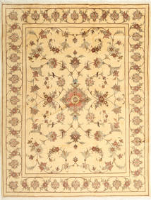 Yazd Rug 197X257 Authentic  Oriental Handknotted Light Brown/Dark Beige (Wool, Persia/Iran)