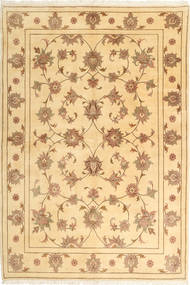 Yazd Rug 168X249 Authentic  Oriental Handknotted Dark Beige/Light Brown (Wool, Persia/Iran)