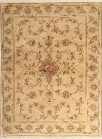 Yazd Matta 173X231 Äkta Orientalisk Handknuten Ljusbrun/Mörkbeige (Ull, Persien/Iran)