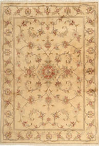 Yazd Matto 167X243 Itämainen Käsinsolmittu Vaaleanruskea/Tummanbeige (Villa, Persia/Iran)