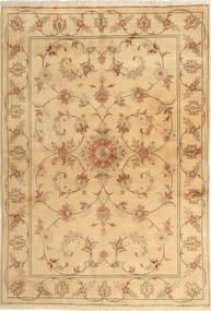 Yazd Matta 167X243 Äkta Orientalisk Handknuten Ljusbrun/Mörkbeige (Ull, Persien/Iran)