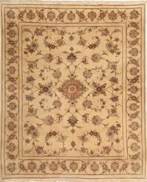 Yazd Matto 197X238 Itämainen Käsinsolmittu Vaaleanruskea/Tummanbeige (Villa, Persia/Iran)