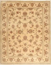 Yazd Rug 199X246 Authentic  Oriental Handknotted Light Brown/Dark Beige (Wool, Persia/Iran)